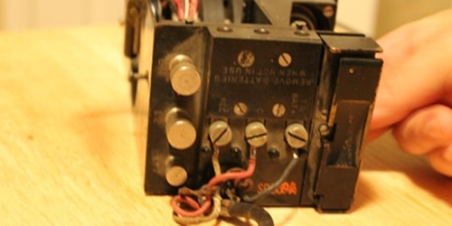 Vintage receiver switch on the right removing that from the top.