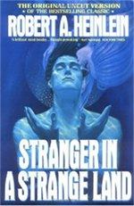 Book cover of Stranger in a Strange Land byRobert Heinlein.