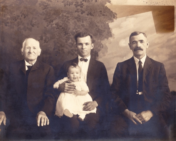 Generations from great grandfather to great grandson.