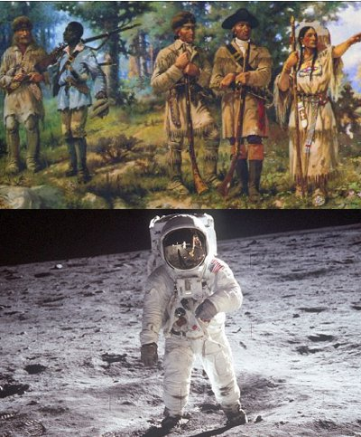 From hunting in ancient times to reaching moon.