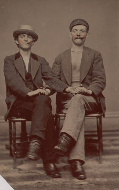 Vintage two men are siting on the chairs black and white photo illustration.