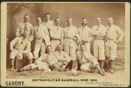 Vintage people group photo of baseball nine black and white illustration.