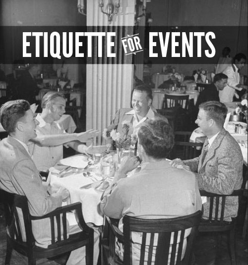 vintage family eating dinner at restaurant laughing etiquette