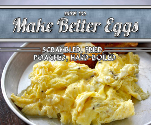 scrambled eggs with pepper buttered bread on plate