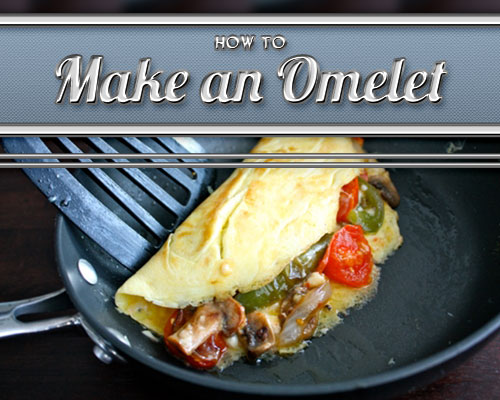 veggie vegetable omelet on skillet cooking