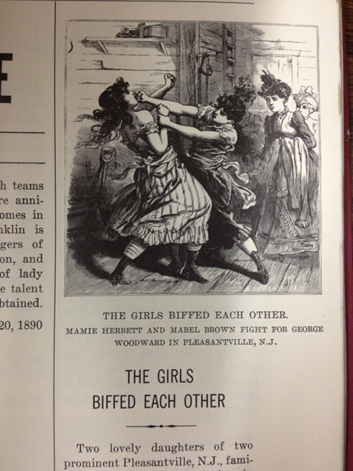 """Vintage girls are more fighting Also, """"biffed"""" is another word that needs to make a comeback."""