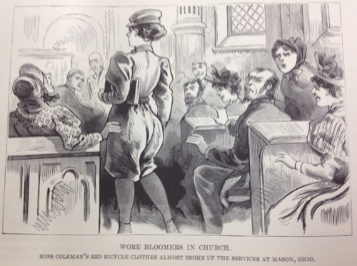 Vintage Wore Bloomers in Church.