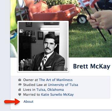 Vintage Brett McKay profile page.