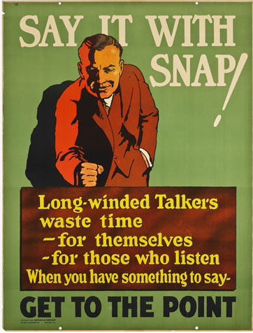 Vintage motivational business poster say it with snap.