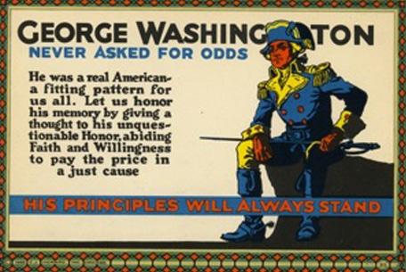 Vintage motivational business poster George Washington.