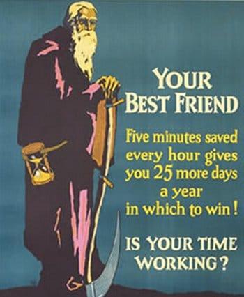 Vintage motivational business poster your best friend.