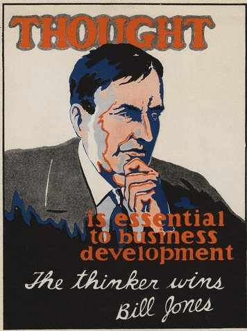 vintage motivational business poster thought thinker