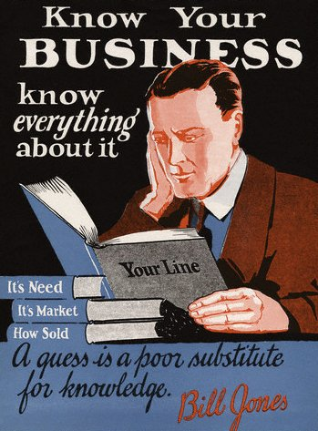 vintage motivational business poster know your business