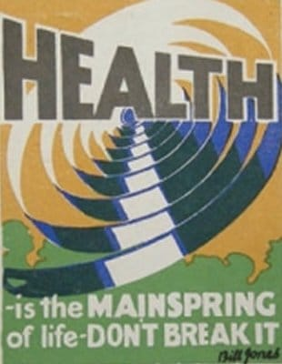 vintage motivational business poster health mainspring of life
