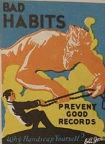 vintage motivational business poster bad habits