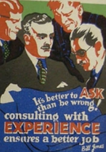 vintage motivational business poster better to ask