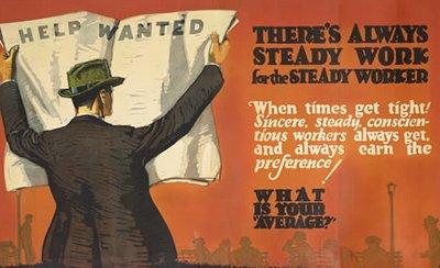 vintage motivational business poster always steady work
