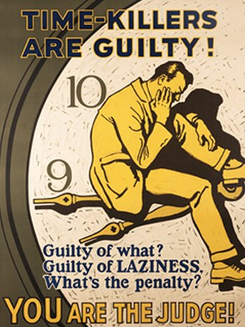 vintage motivational business poster time killers guilty
