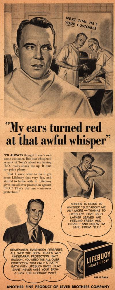 Vintage ad advertisement lifebuoy soap.