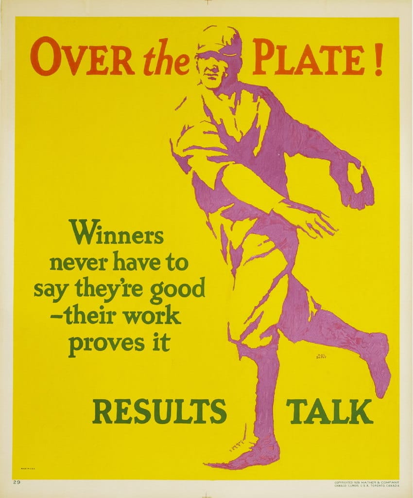vintage motivational business poster results talk