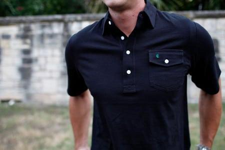 Man wearing Polo shirt.
