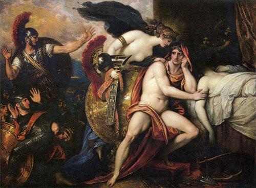 Benjamin West Thetis bringing armor to Achilles 1806.