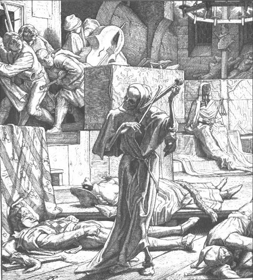 Death as a cutthroat by Alfred Rethel, 1851