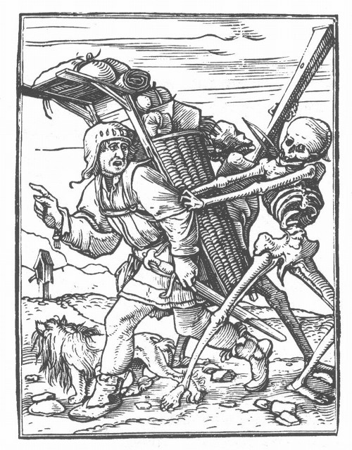 Dance of Death woodcut Hans Holbein the Younger, 1523-1526.