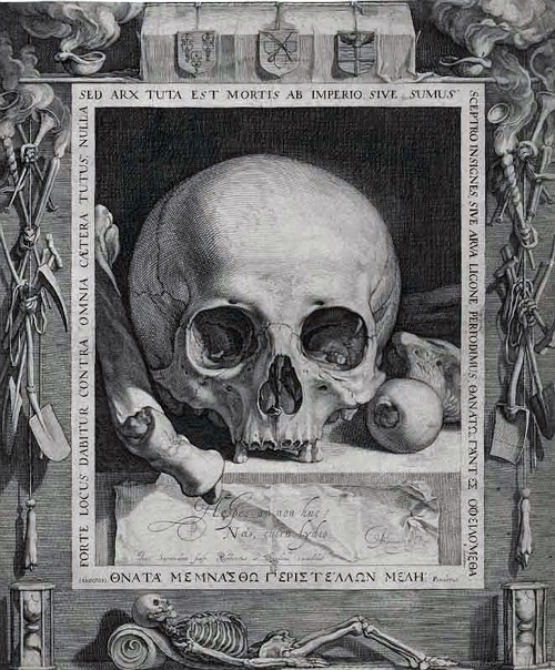 Memento Mori by Jan Saenredam, late 16th century
