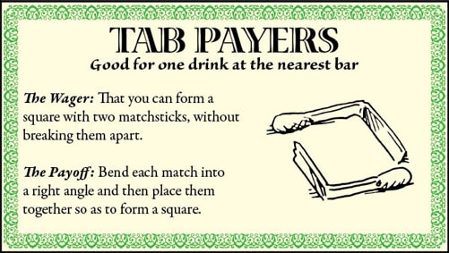 bar game trick square matchsticks illustration