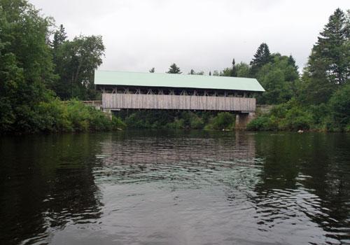 Dock house on a lake.