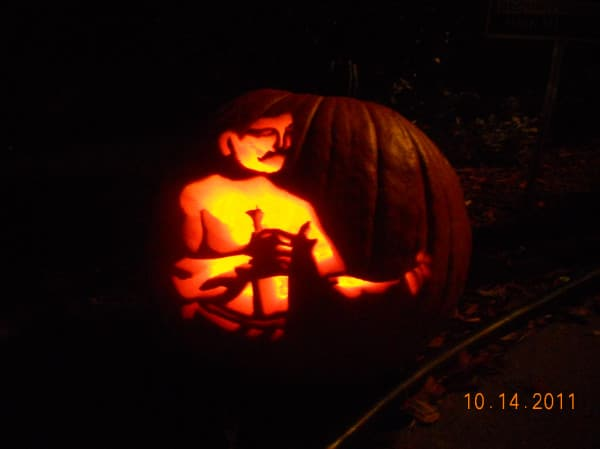 pumpkin carving john sullivan boxer art of manliness