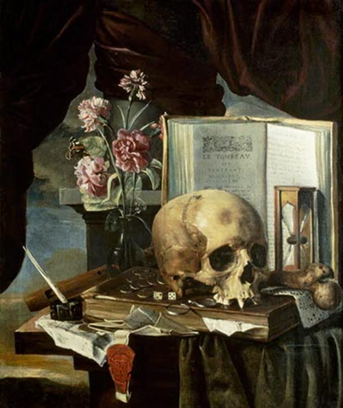 Vanitas Still Life by Simon Renard de Saint-André, middle of the 17th century