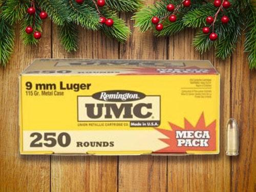 Remington UMC's 250 rounds ammo packet.