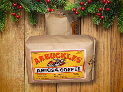 Arbuckles' ariosa blend coffee.