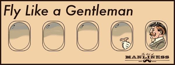 victorian gentleman in airplane window air etiquette