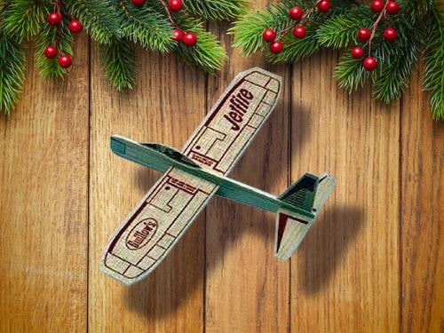 Balsa wood jetfire airplanes.