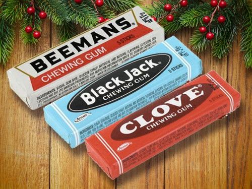 Beemans, Black Jack, Clove's chewing gum.