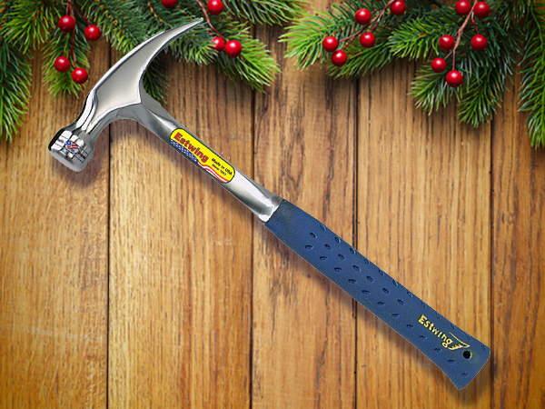 Estwing's Silver-bluish hammer.