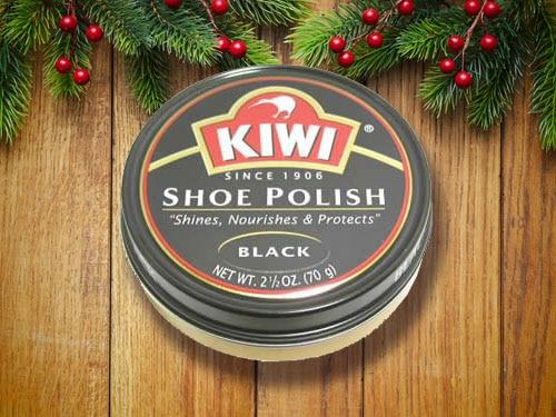 KIWI's black shoe polish.