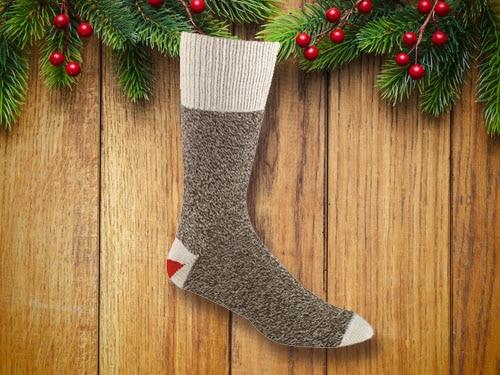 Greyish monkey socks.