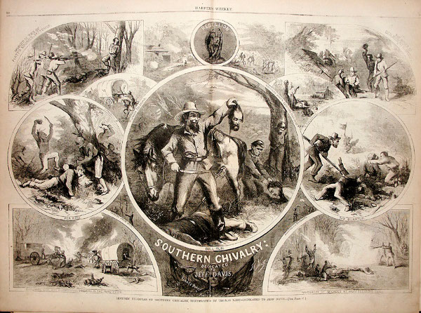 vintage harper's cartoon souther chivalry civil war