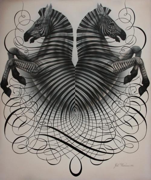 jake weidmann master penman zebras artwork