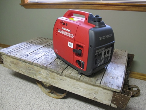 Emergency petrol generator.
