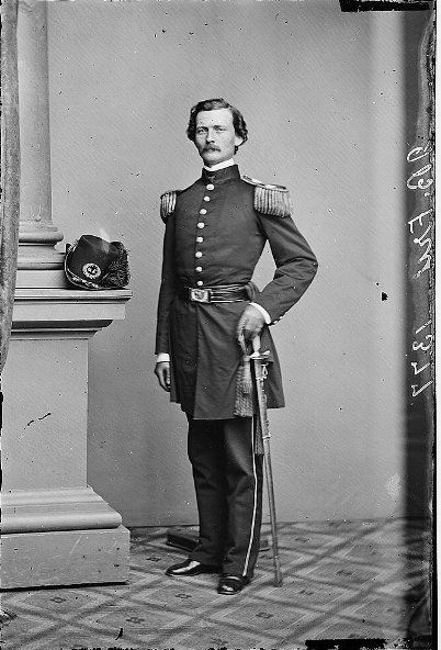 Civil war north solider portrait in full dress uniform.
