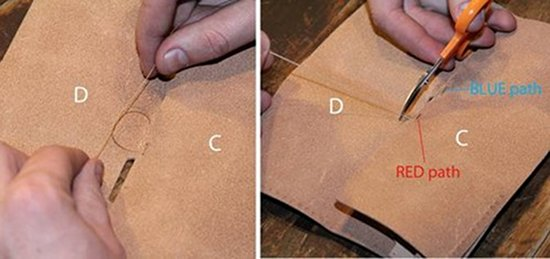 Stitching plan of wallet.