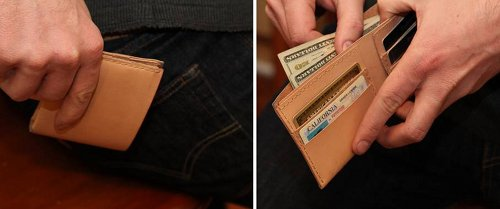 How to make a leather wallet by hand the art of manliness homemade leather wallet malvernweather Images