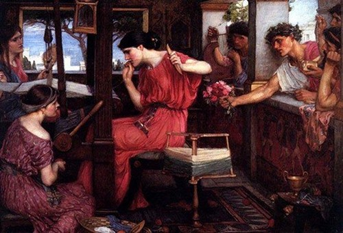 waterhouse penelope and the suitors homer's odyssey painting