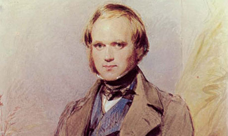Young Charles Darwin portrait painting.