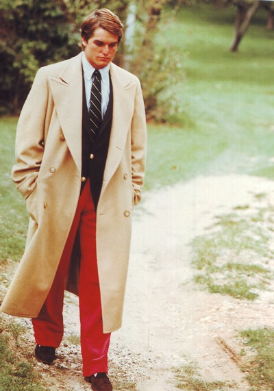 Wear overcoat without suit